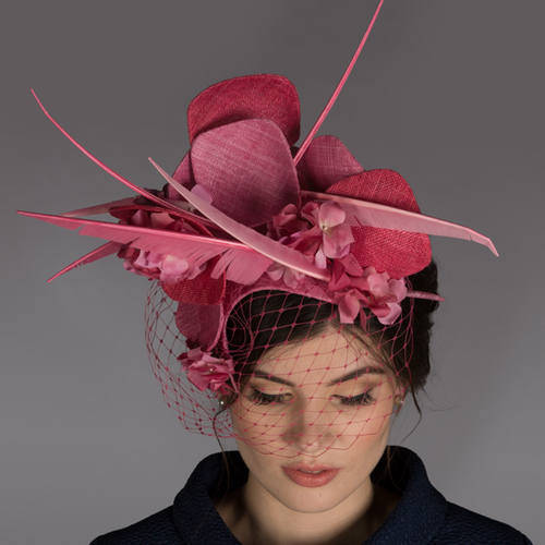 Abstract Sinamay with Quills: London Hat Week 2018
