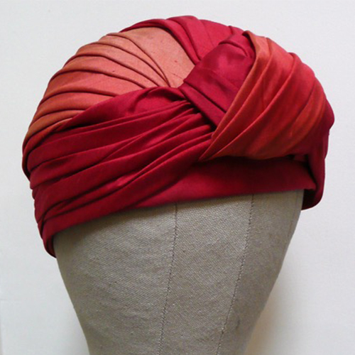 Pin tucked turban class - London Hat Week 2018